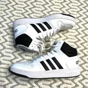 Adidas Classic White and Black High Top Sneaker size 10   New without box
